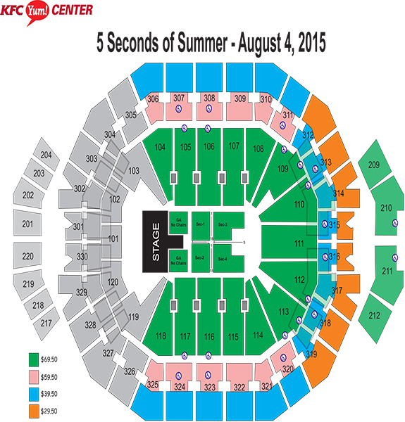 5SOS Seating Chart