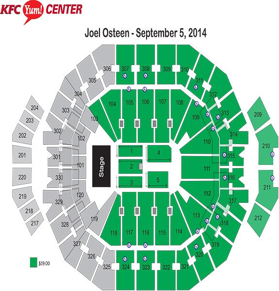 Kfc Yum Center Seating Charts